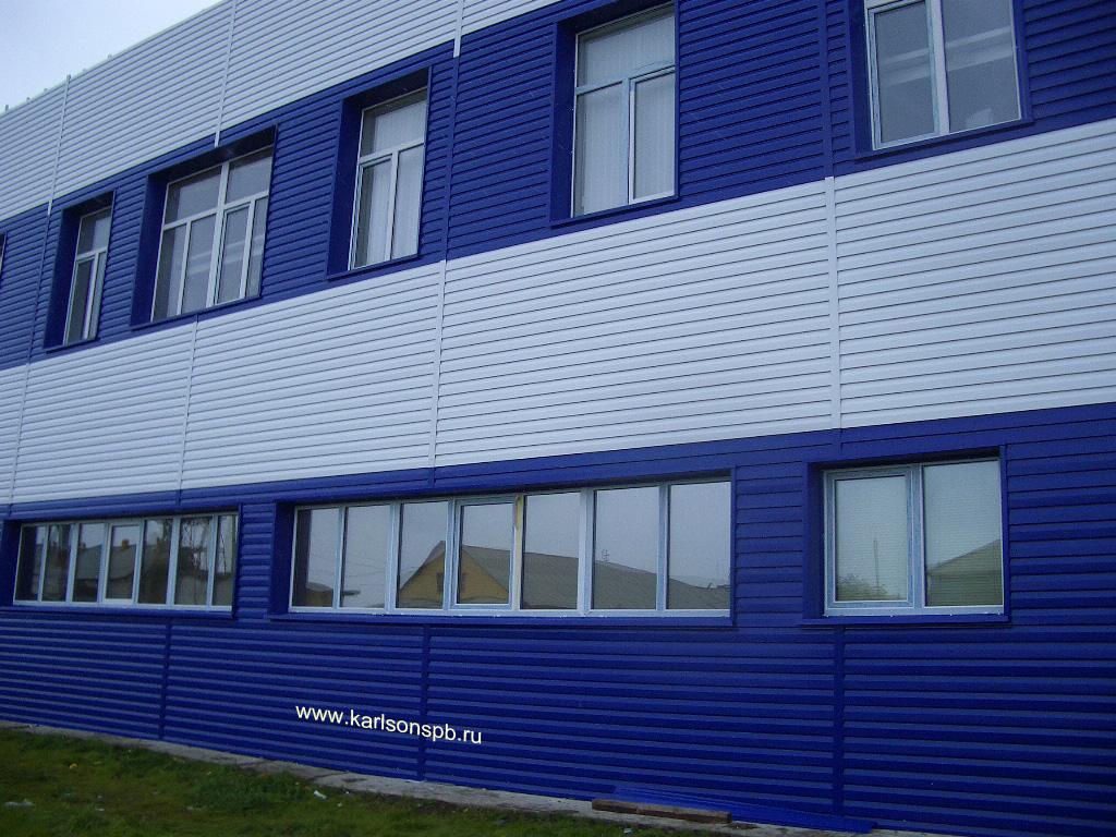 Фасад из металлосайдинга фото